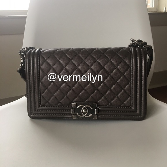 CHANEL Handbags - Authentic Chanel Le Boy Calfskin Old Medium
